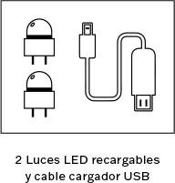 2 LEDs recargables